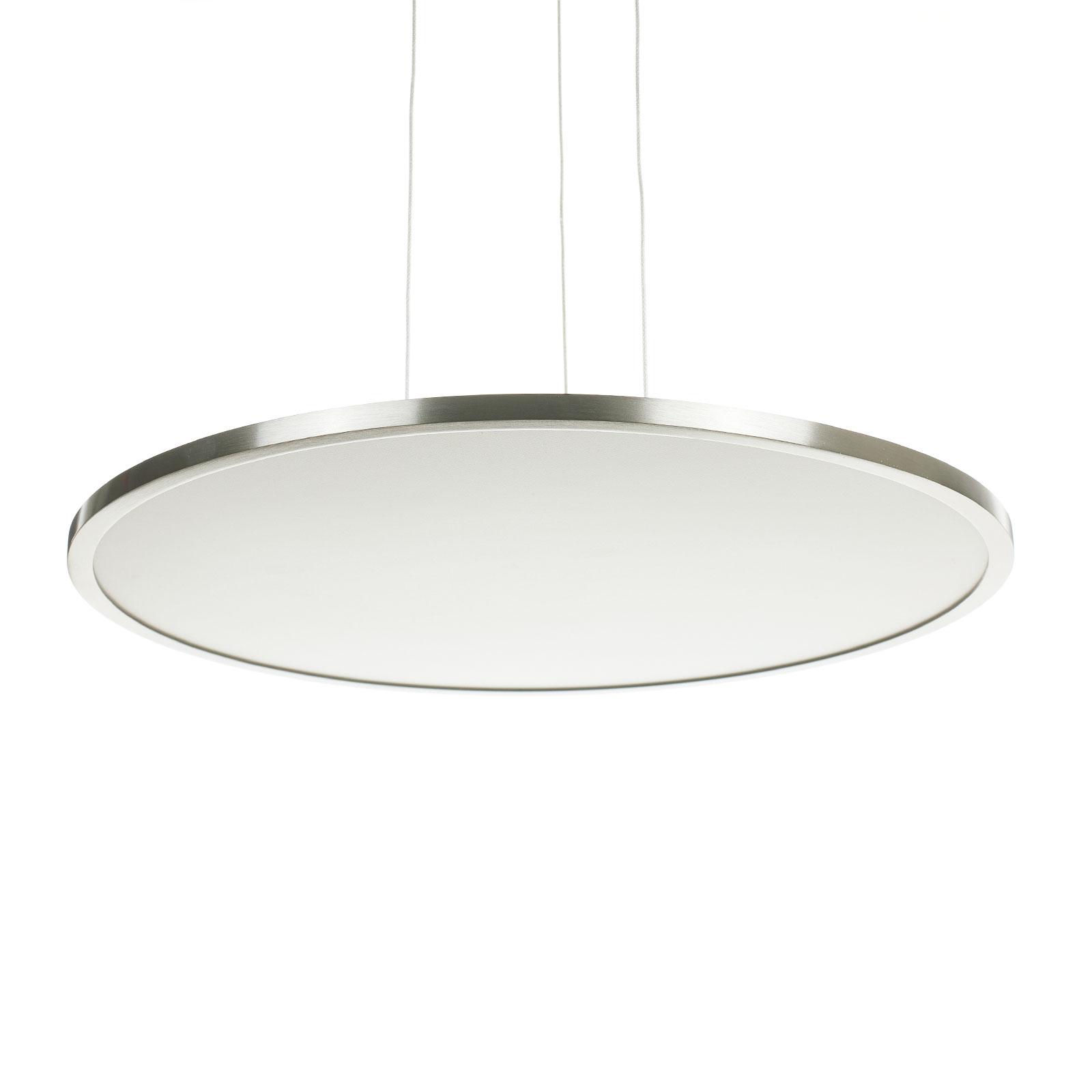 LED-Deckenleuchte Ceres, easydim, nickel, Ø45cm
