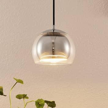 Lindby Daymien suspension, à 1 lampe, chromée
