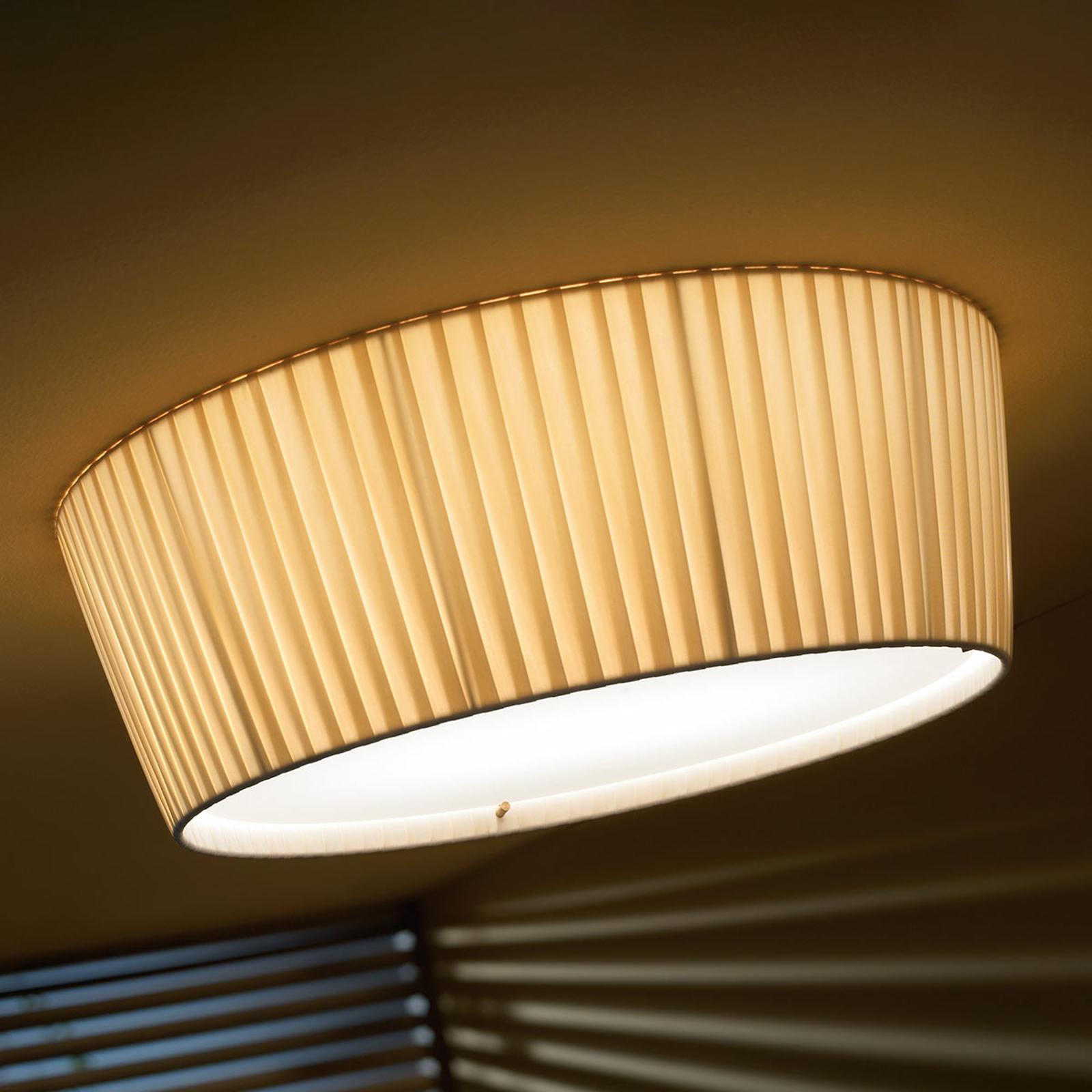 Bover Plafonet 43 - stoff-taklampe, bånd krem