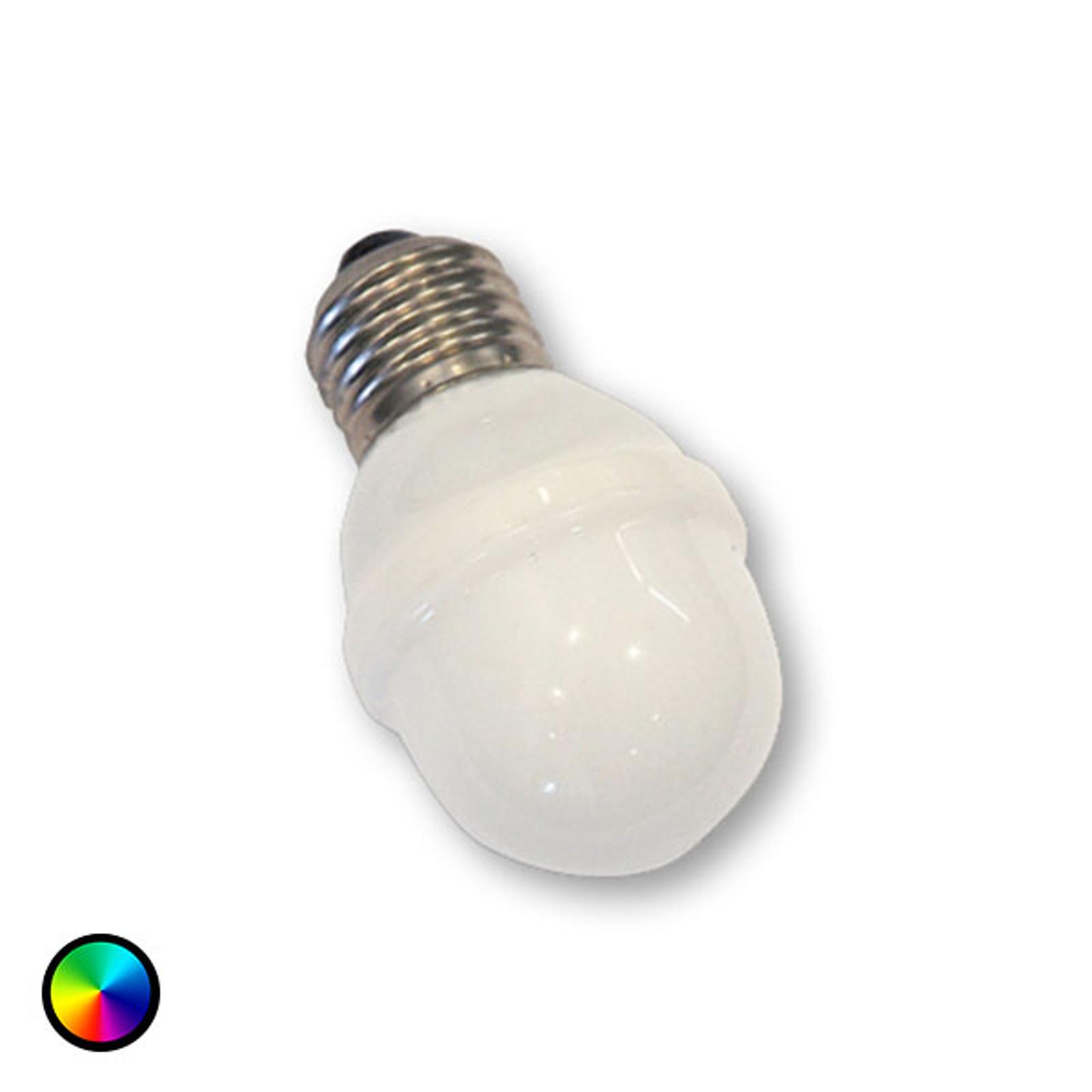 LED Golfball-Lampe E27, 1W, 5,5 VA RGB