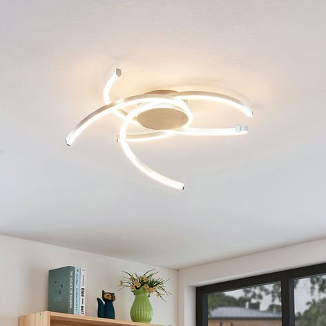 Lindby Katris LED-Deckenleuchte, 58 cm, alu