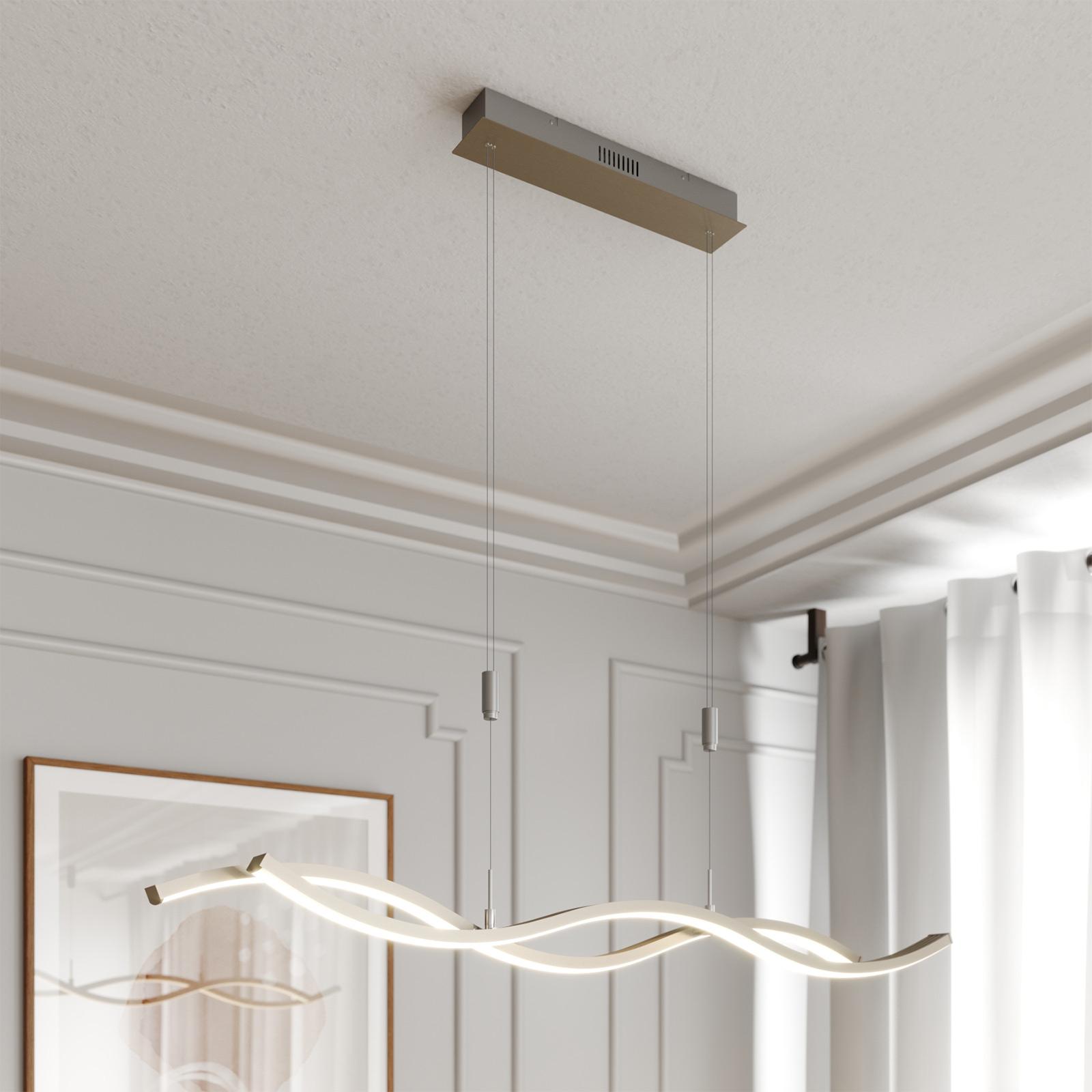 Lucande Mairia LED-Hängeleuchte, höhenverstellbar