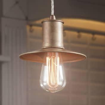 Rustica lampada a sospensione Nio, metallo