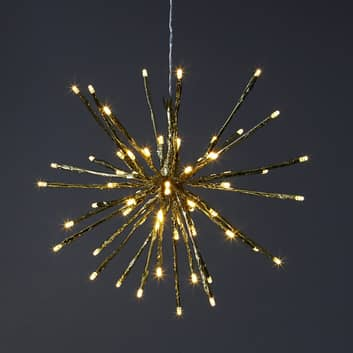 8 ljuslägen – LED-dekorationslampa Firework, guld