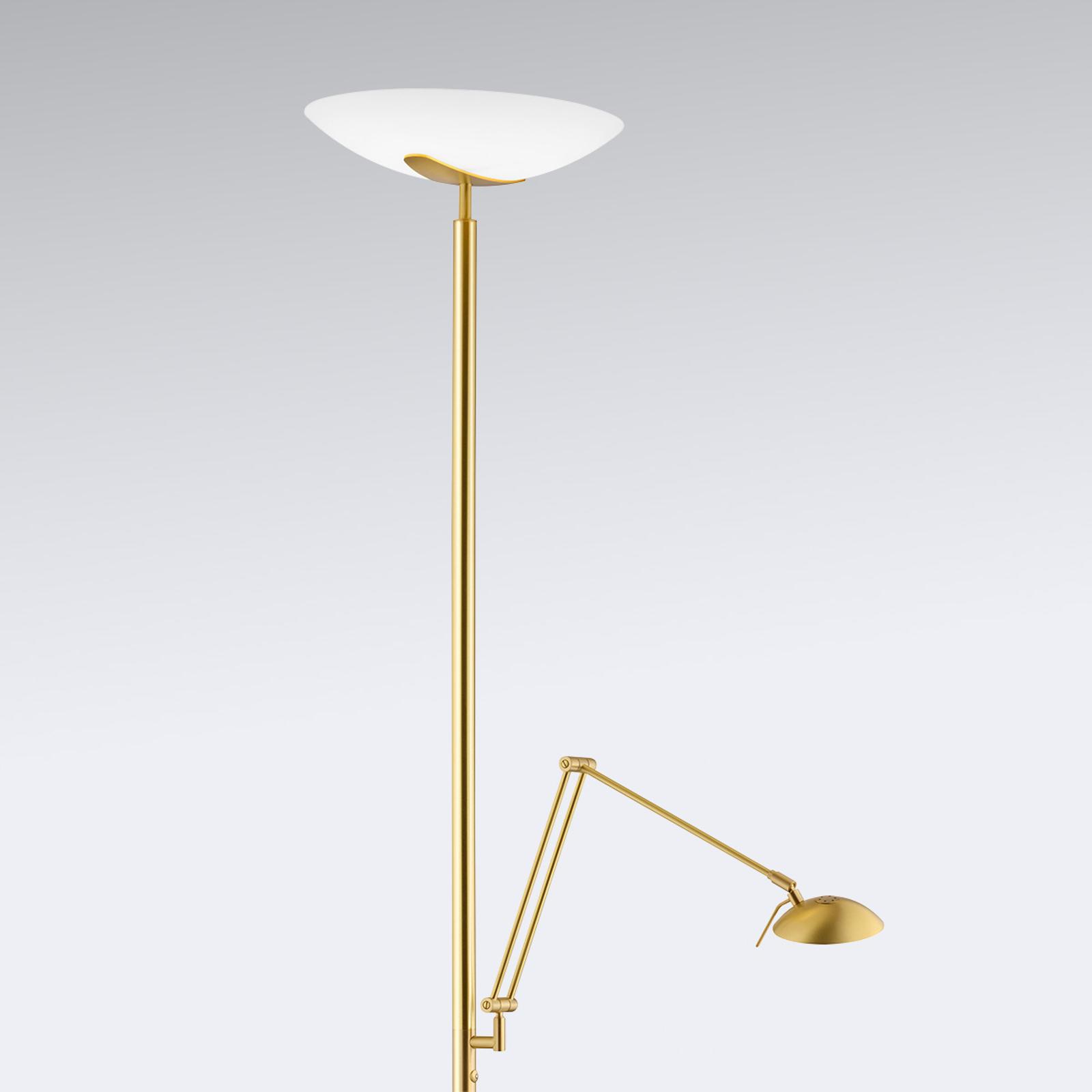 Stojací LED lampa Lya čtecí lampa mosaz matná