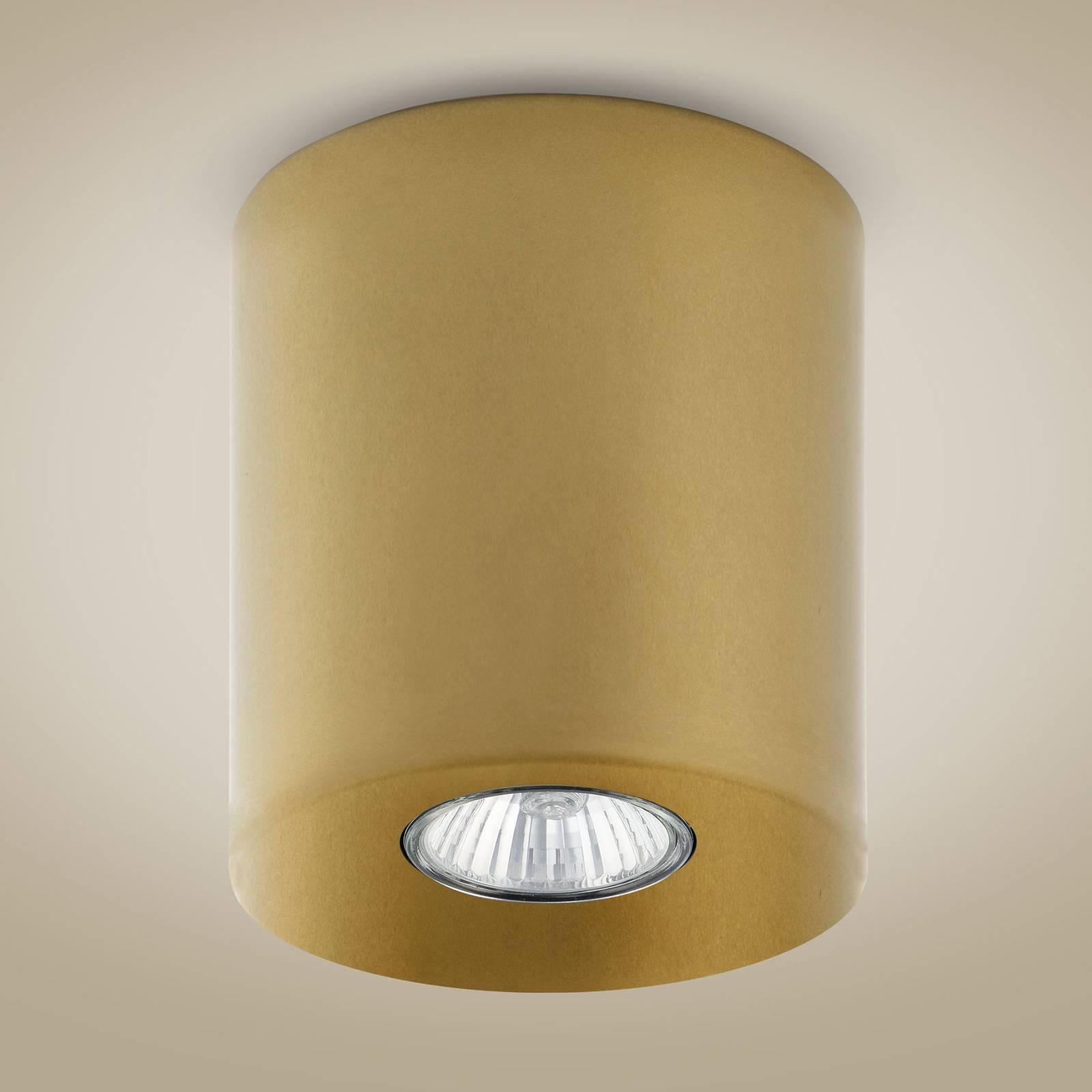 Downlight Orion rund, gold, 12,5 cm