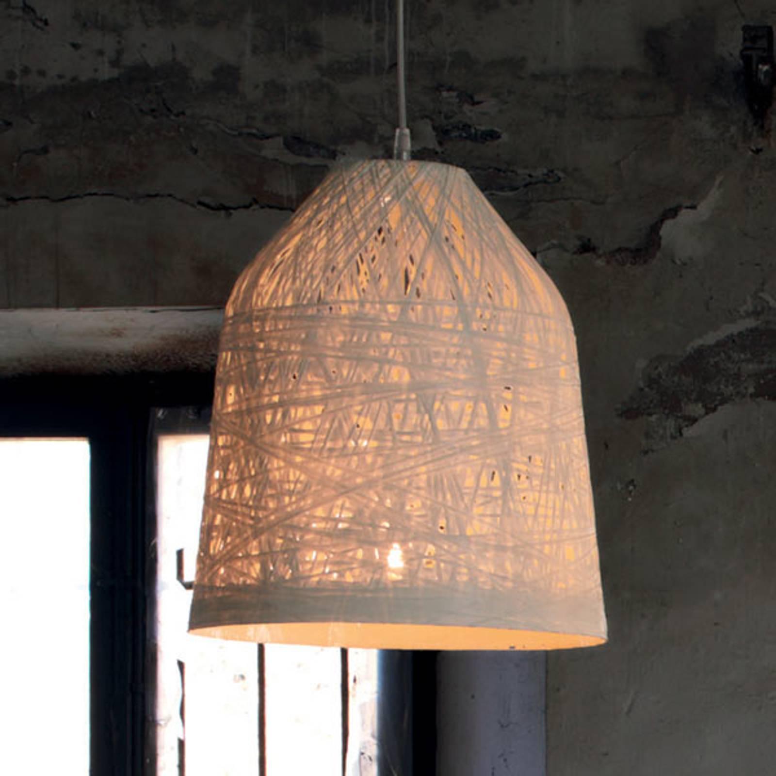 Suspension design blanche Black Out, 35 cm