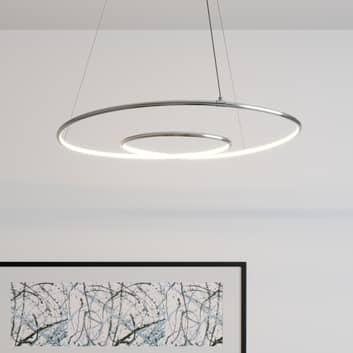 Lindby Lucy lámpara colgante LED, 70 cm, cromo