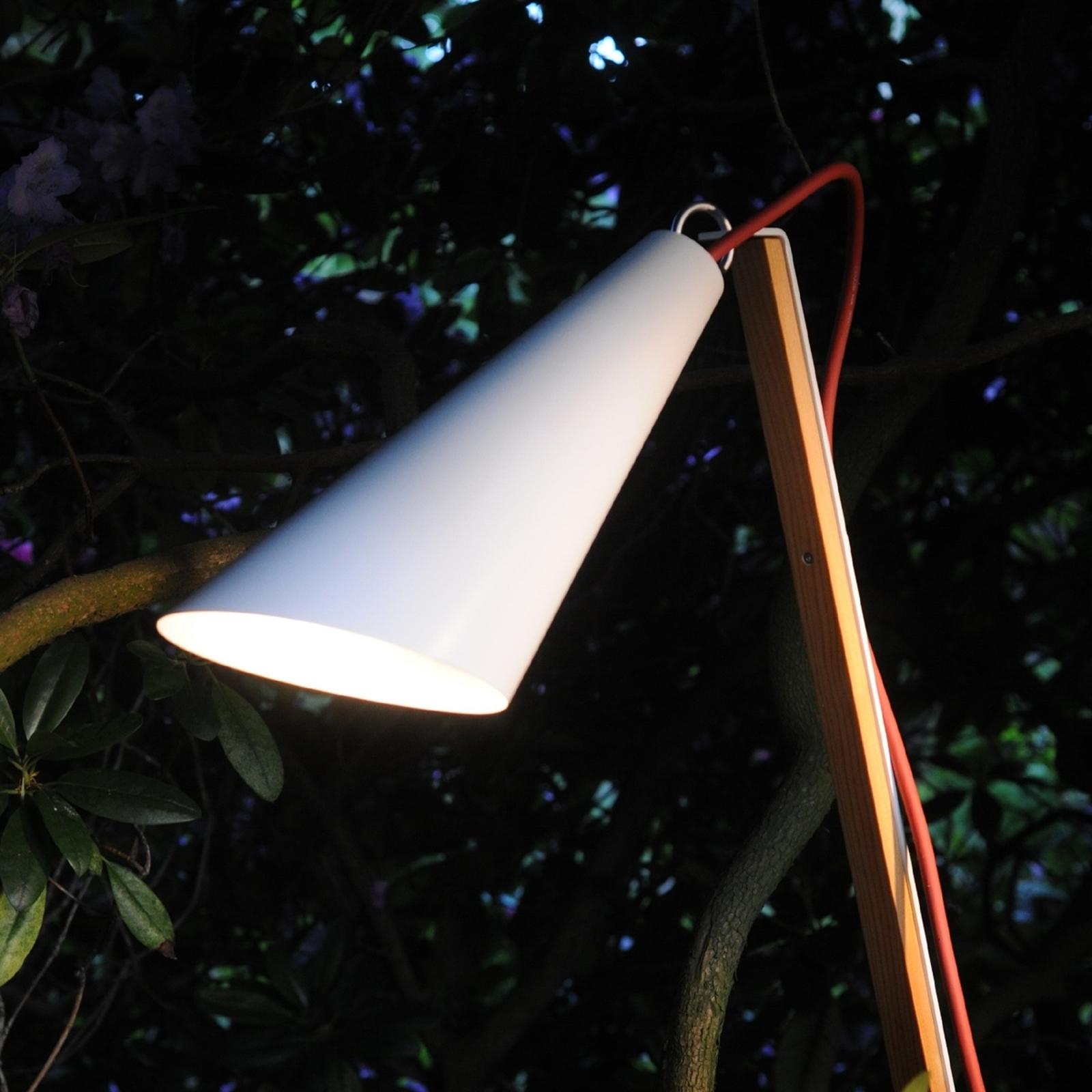 Dekorationslampa Pit Out för utomhusbruk, vit