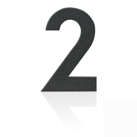 Edelstahl-Hausnummern in Grafitgrau