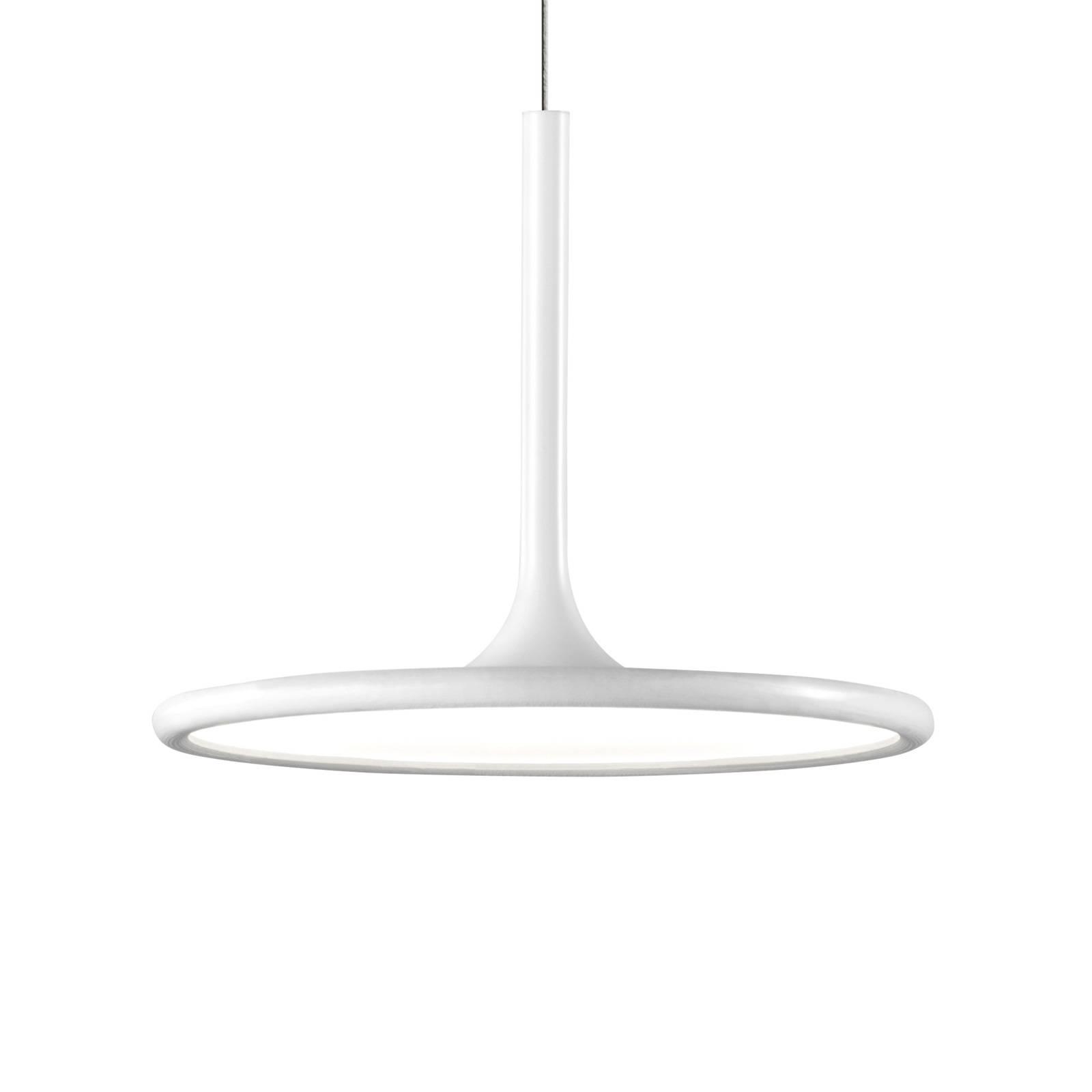 Grok net LED hanglamp in mat wit, Ø 25 cm