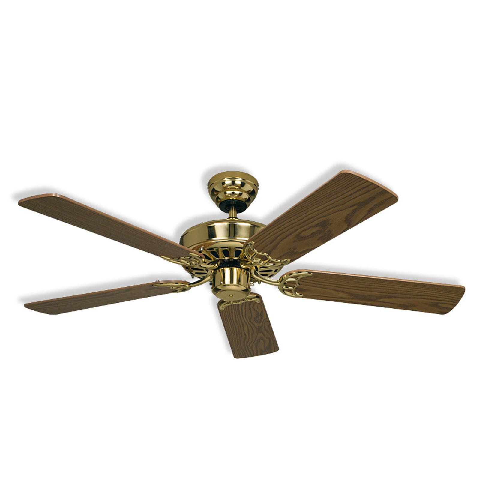 Ceiling fan Royal 103, brass, antique oak_2015053_1