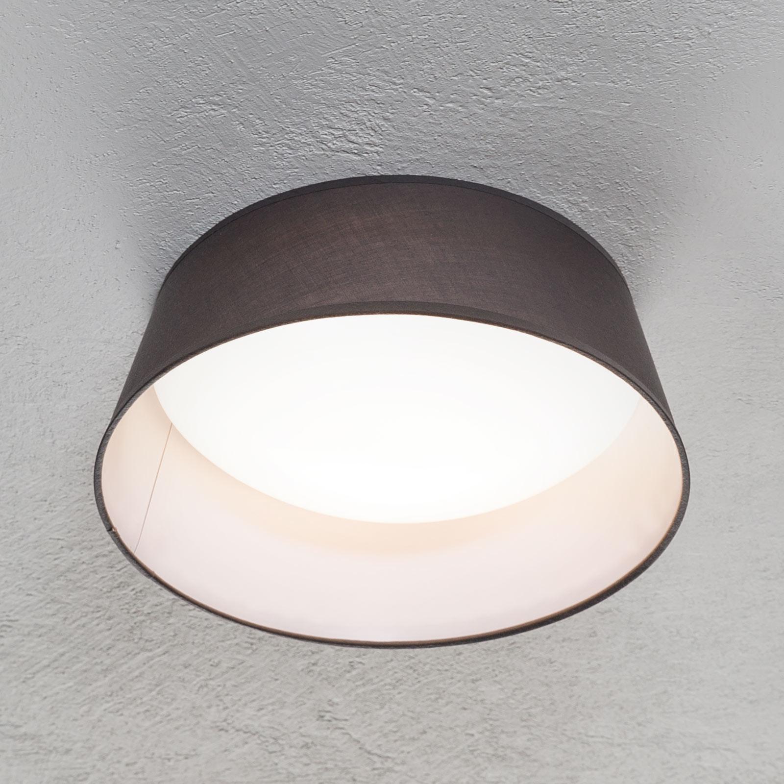 LED-Deckenlampe Ponts mit grauem Textilschirm