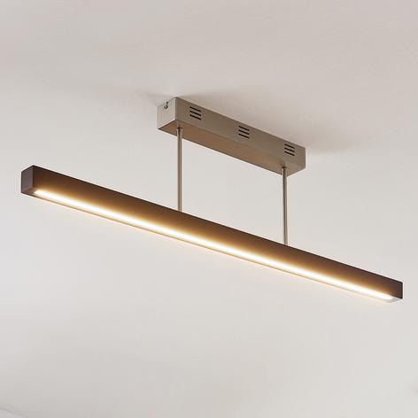 LED-Holz-Deckenleuchte Tamlin, schwarz, dimmbar