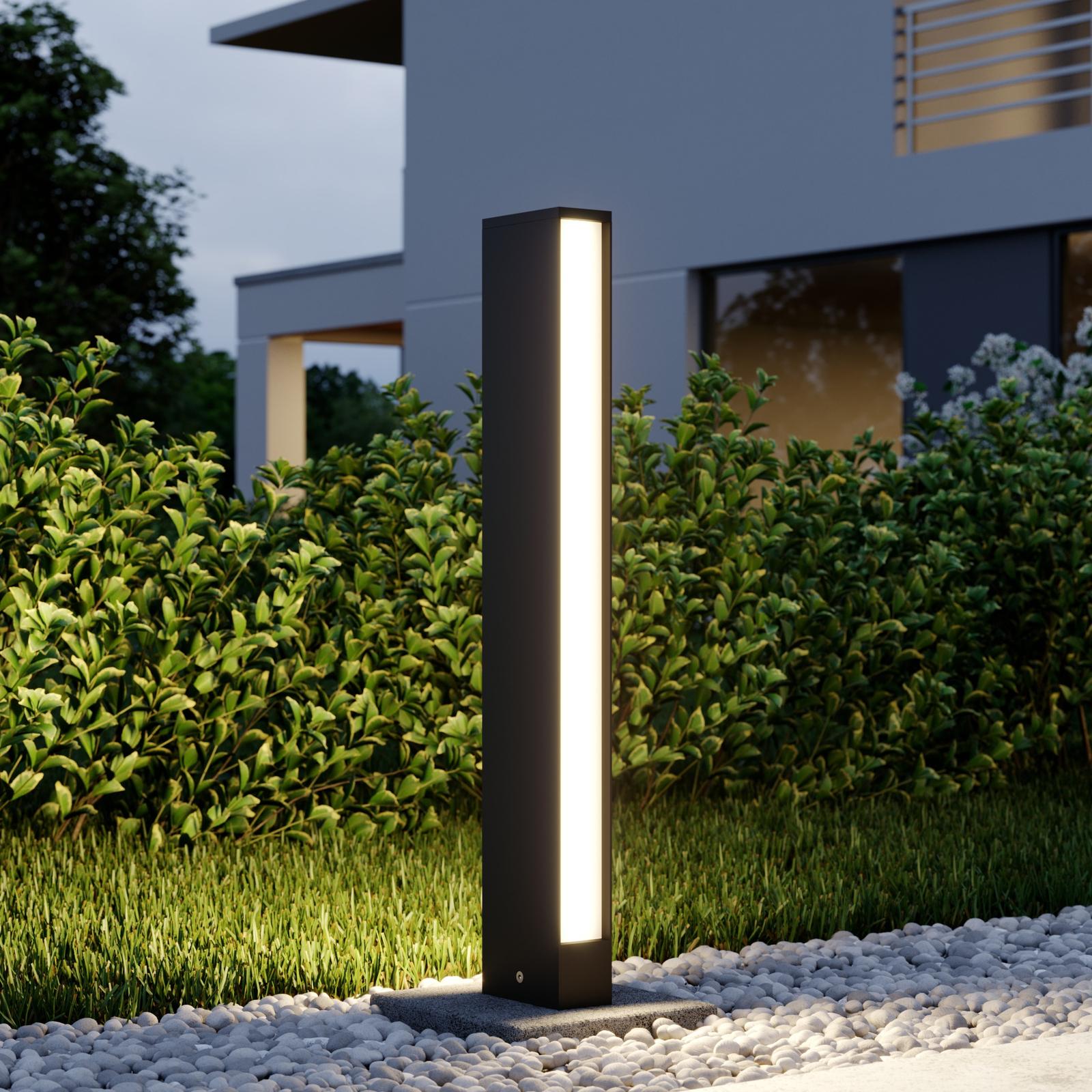 LED-Wegeleuchte Lirka, dunkelgrau, 2-flammig