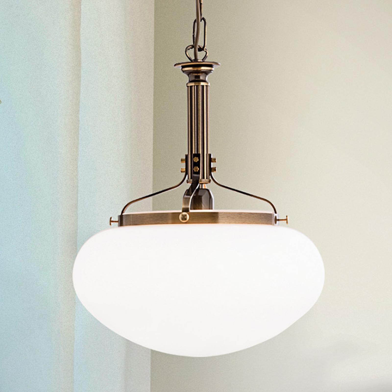 Lampa wisząca Delia, stary mosiądz, 1-punktowa