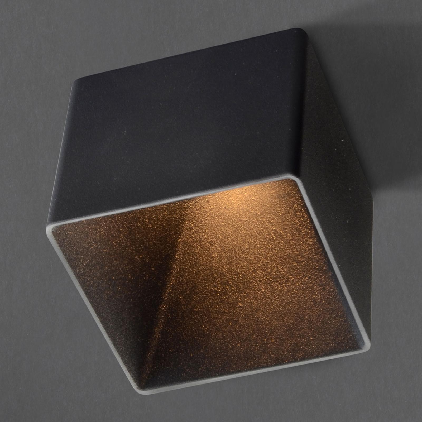 GF design Blocky Einbaulampe IP54 schwarz 2.700 K
