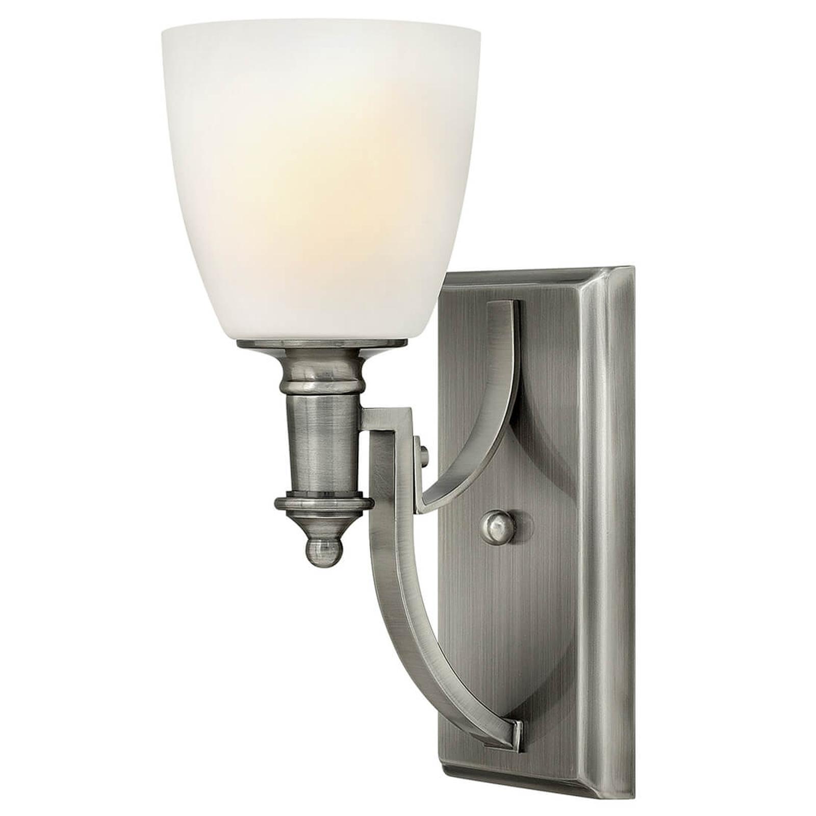 Antiek vernikkelde wandlamp Truman