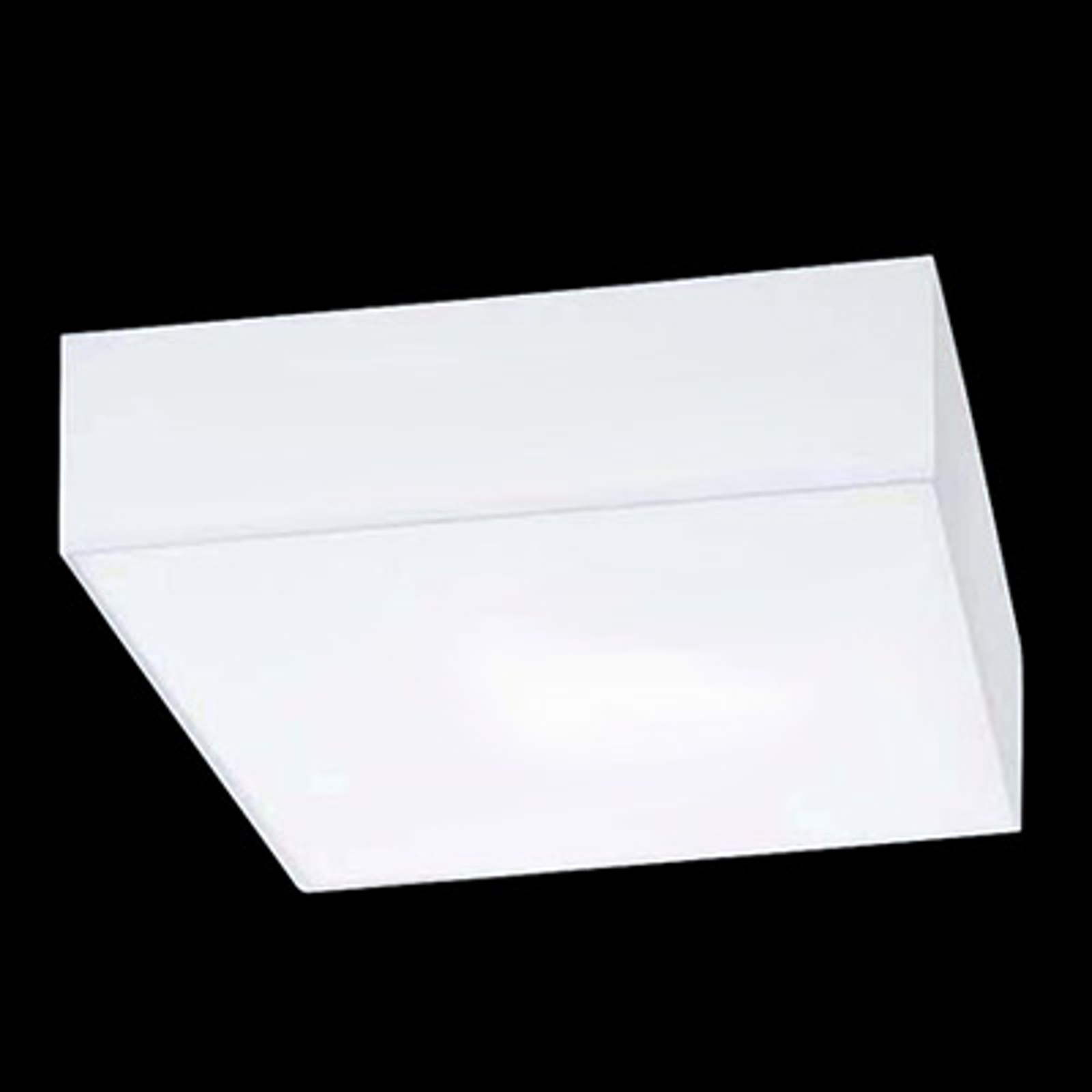 Kvadratisk taklampe Cuba Hela, hvit