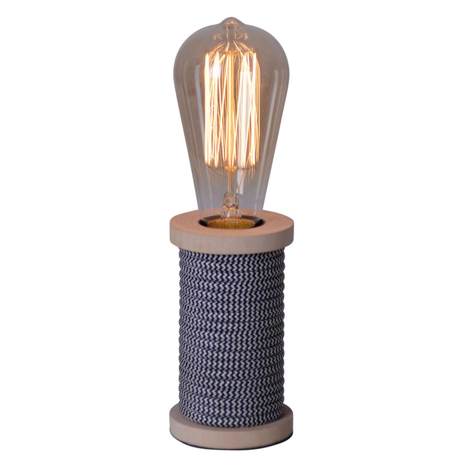 Tafellamp Max met houten voet antraciet