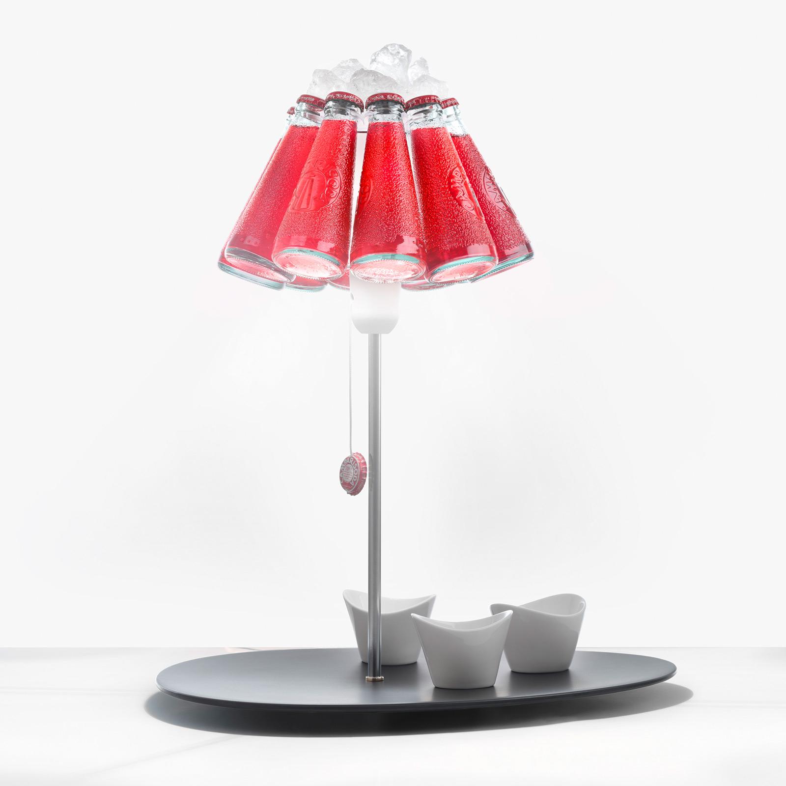 Ingo Maurer Campari Bar tafellamp uit flessen