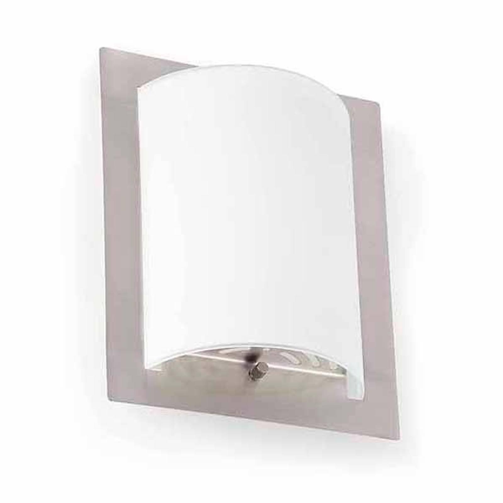 Elegante wandlamp DIULA-1 nikkel, 20 cm