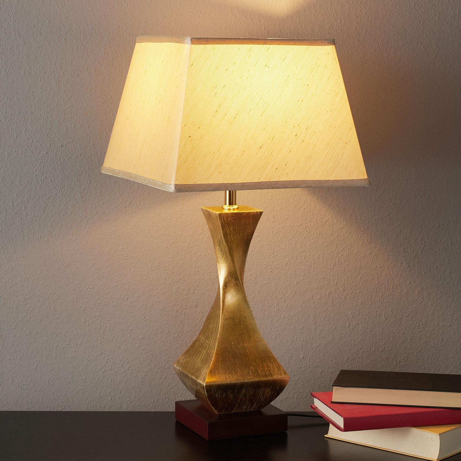 Tischleuchte Deco mit goldenem Fuß
