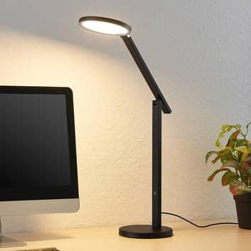 Lucande Felkano LED-Tischlampe, schwarz