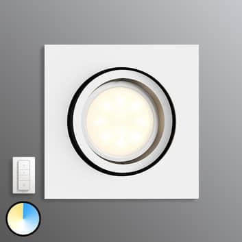 Philips Hue Milliskin kantet, hvit med dimmebryter