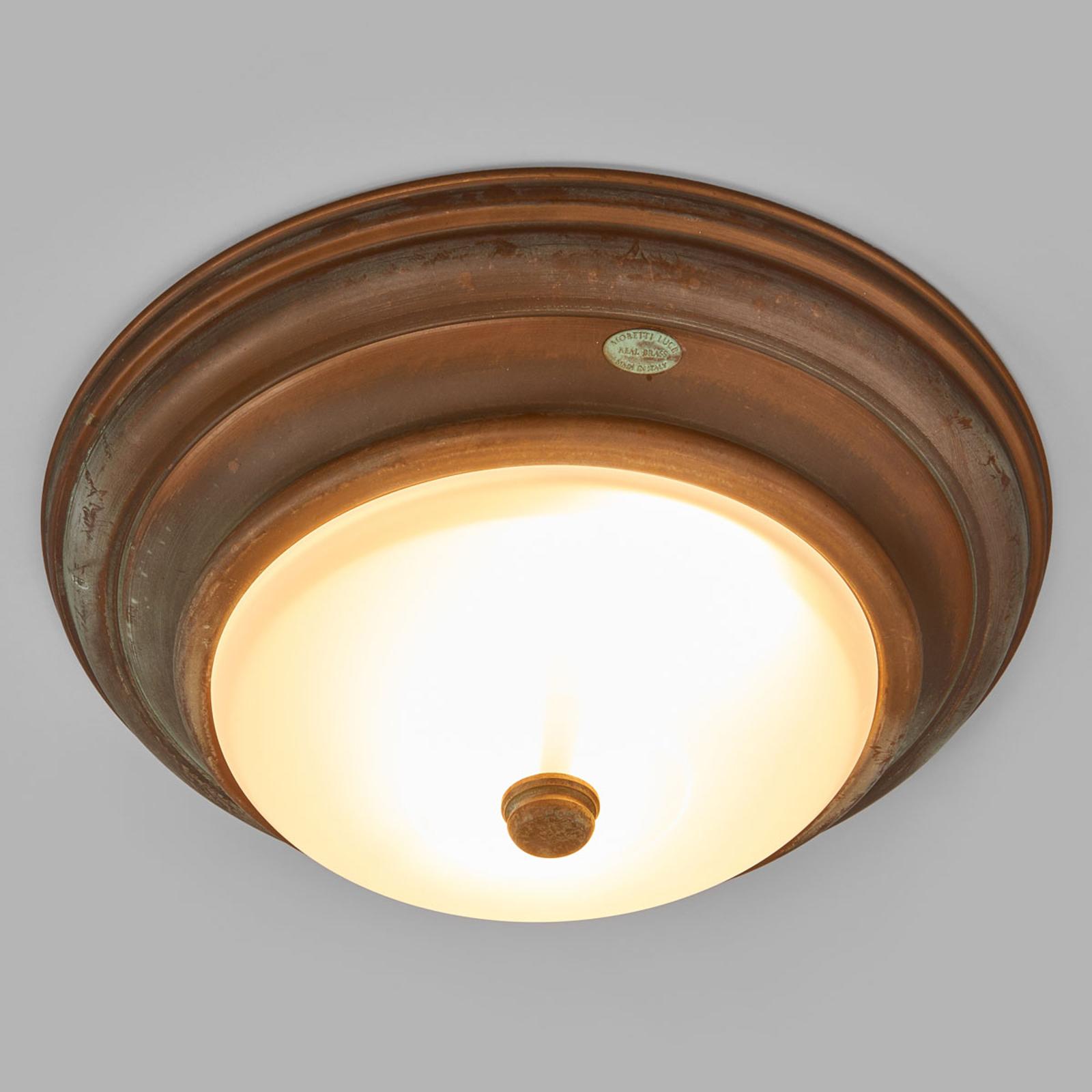 Stylizowana na antyk lampa sufitowa Clasico