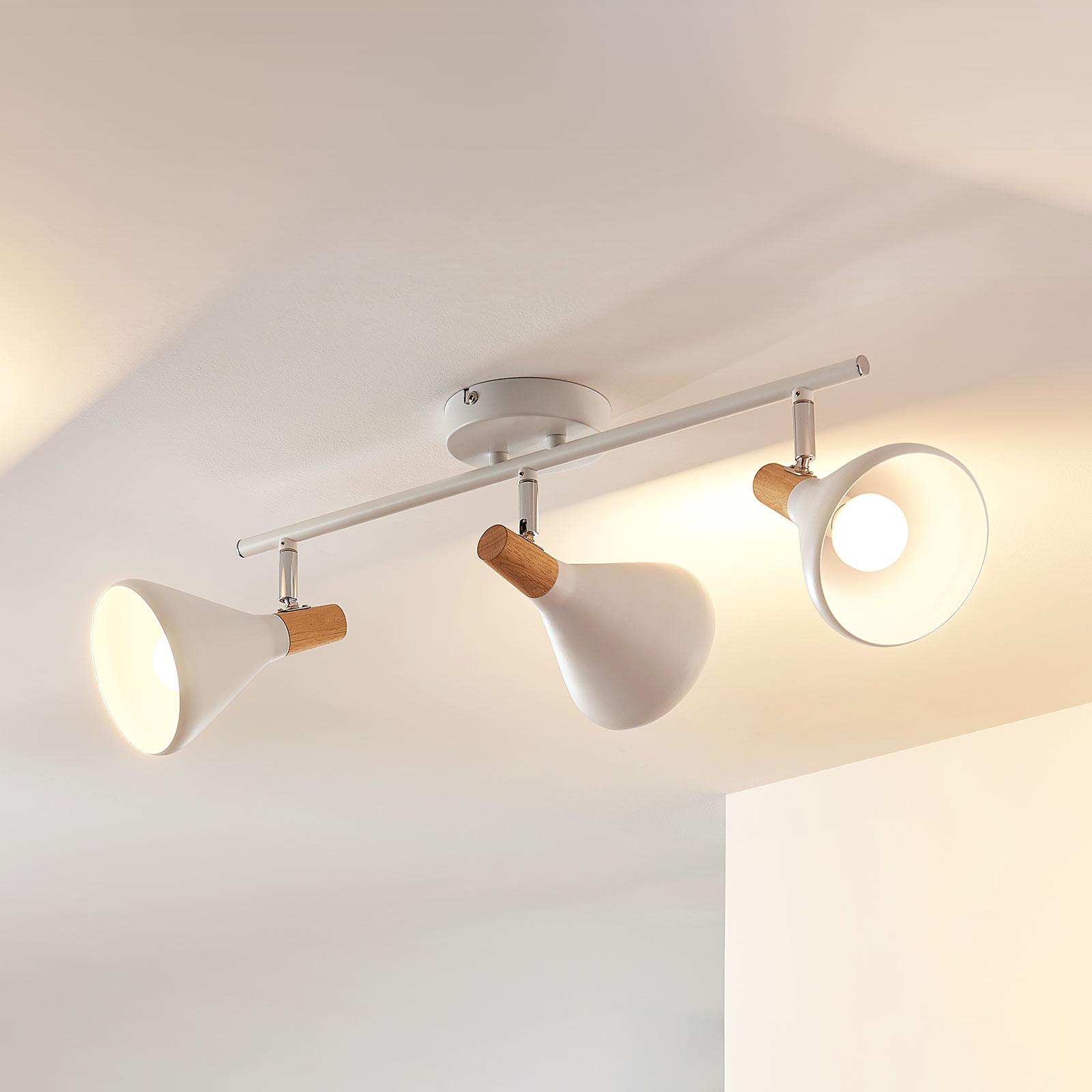LED-Deckenlampe Arina in Weiß, 3-flammig, lang