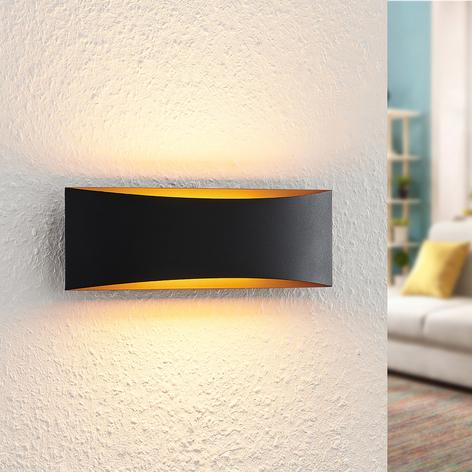 Arcchio Danta LED-Wandlampe, schwarz-gold