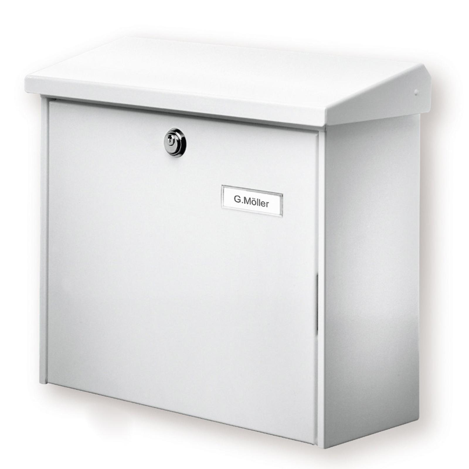 Comfort brevlåda, vit