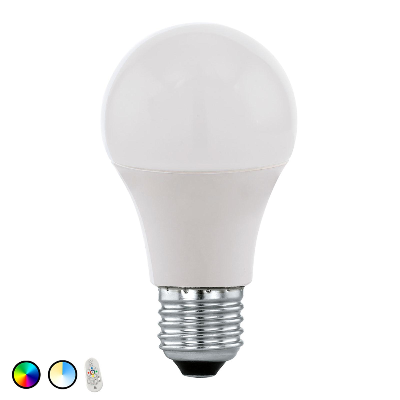 EGLO connect LED-pære E27 9W RGBTW fjernkontroll