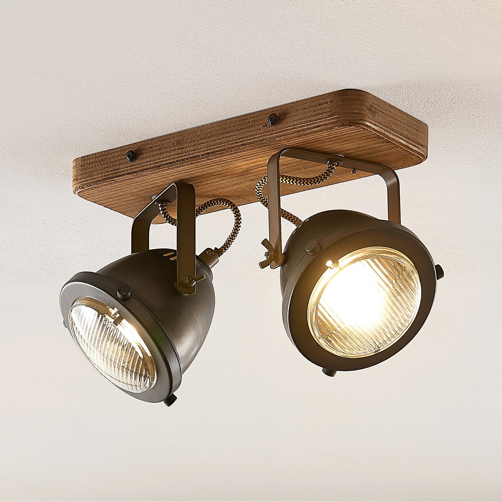 Lindby Shila taklampe, 2 lyskilder