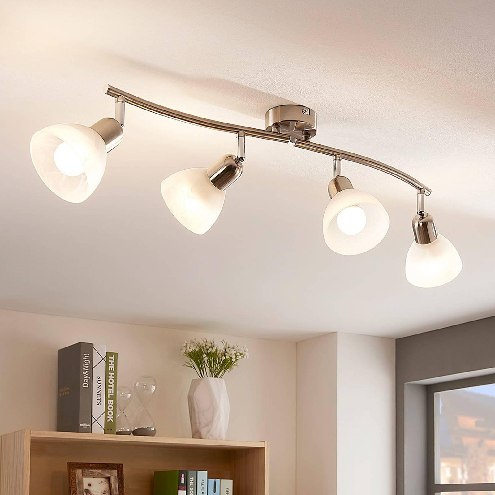 Subtelna lampa sufitowa LED Paulina, 4-punktowa