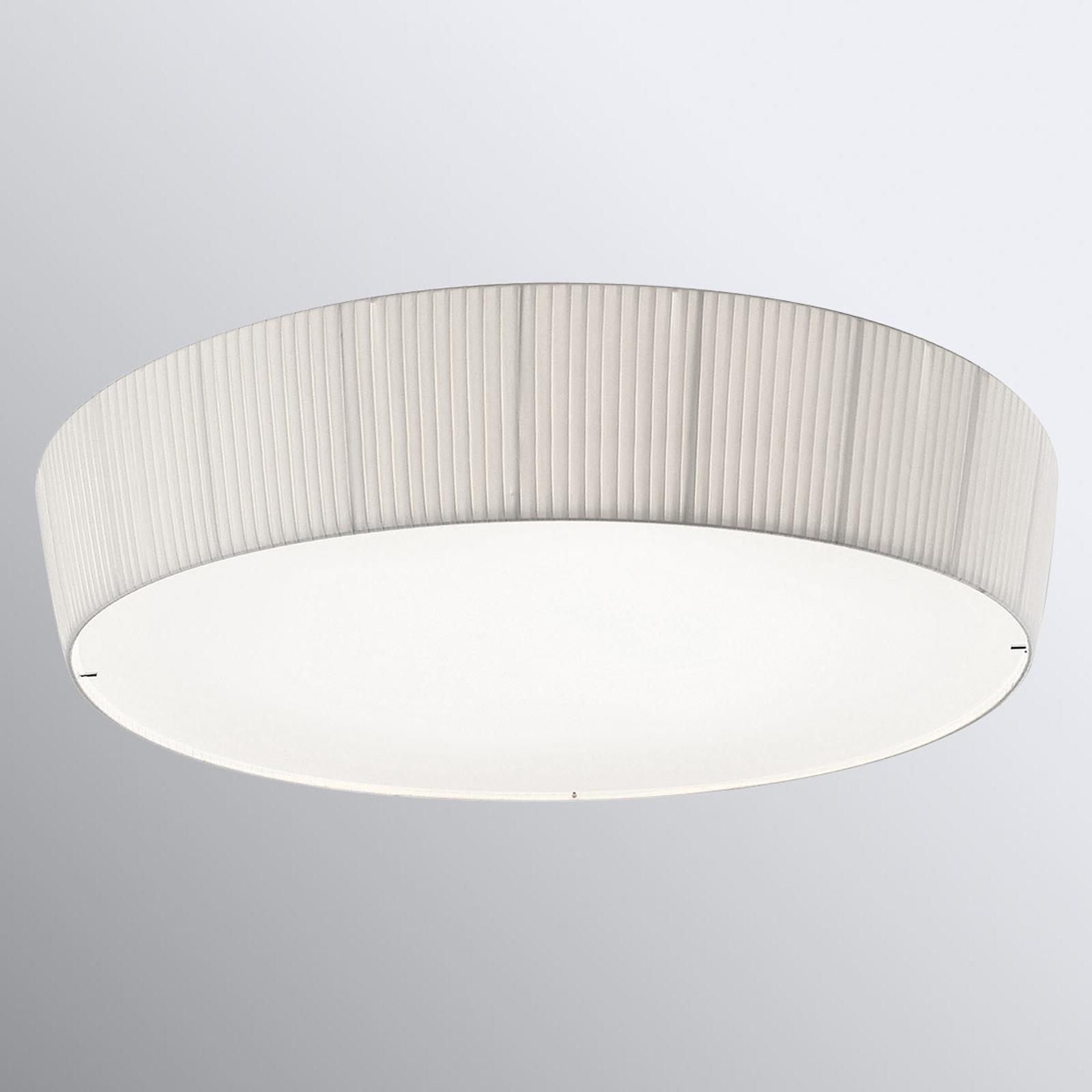 Bover Plafonet 95 - tekstil-taklampe, hvitt bånd