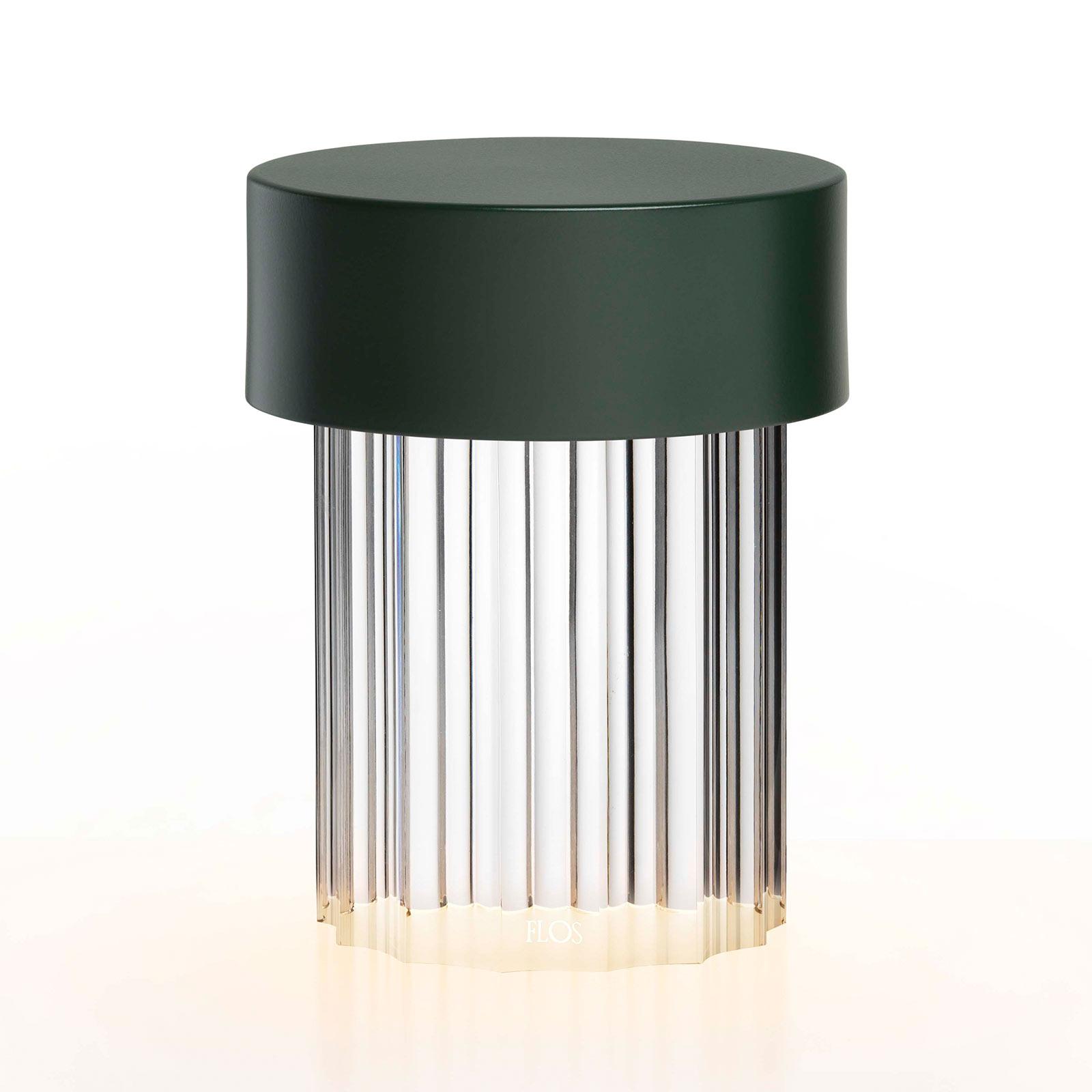 FLOS Last Order LED-bordlampe bølget IP55 grøn