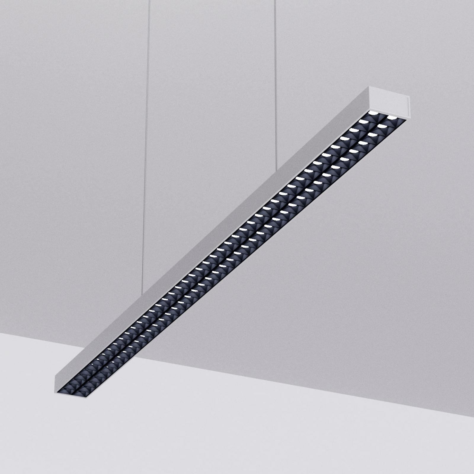 LED hanglamp Jolinda voor kantoor, zilver