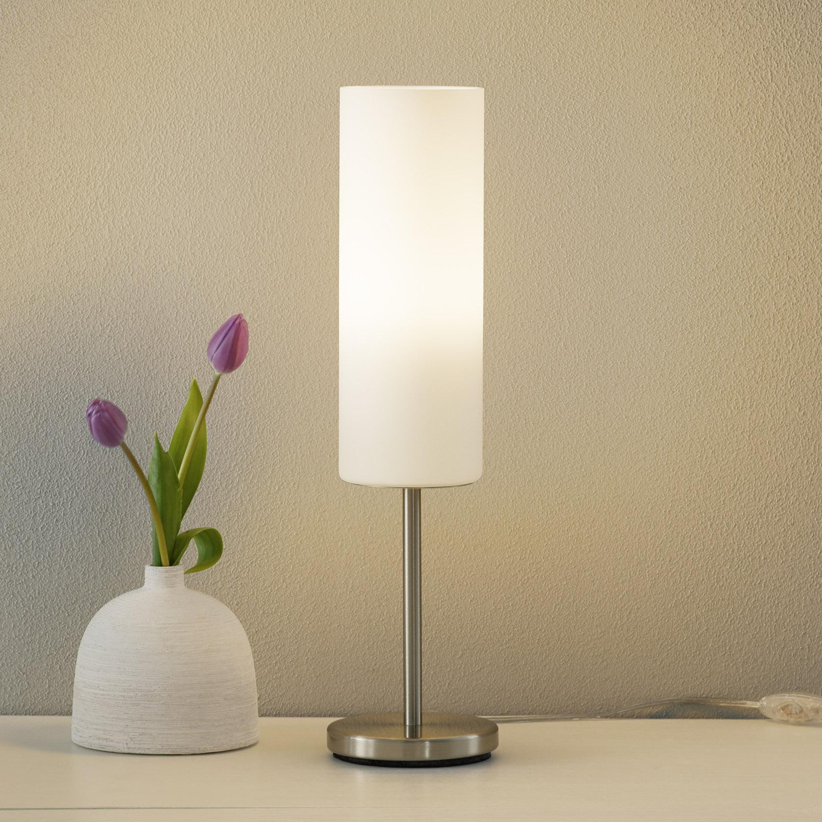 Affascinante lampada da tavolo bianca TROY