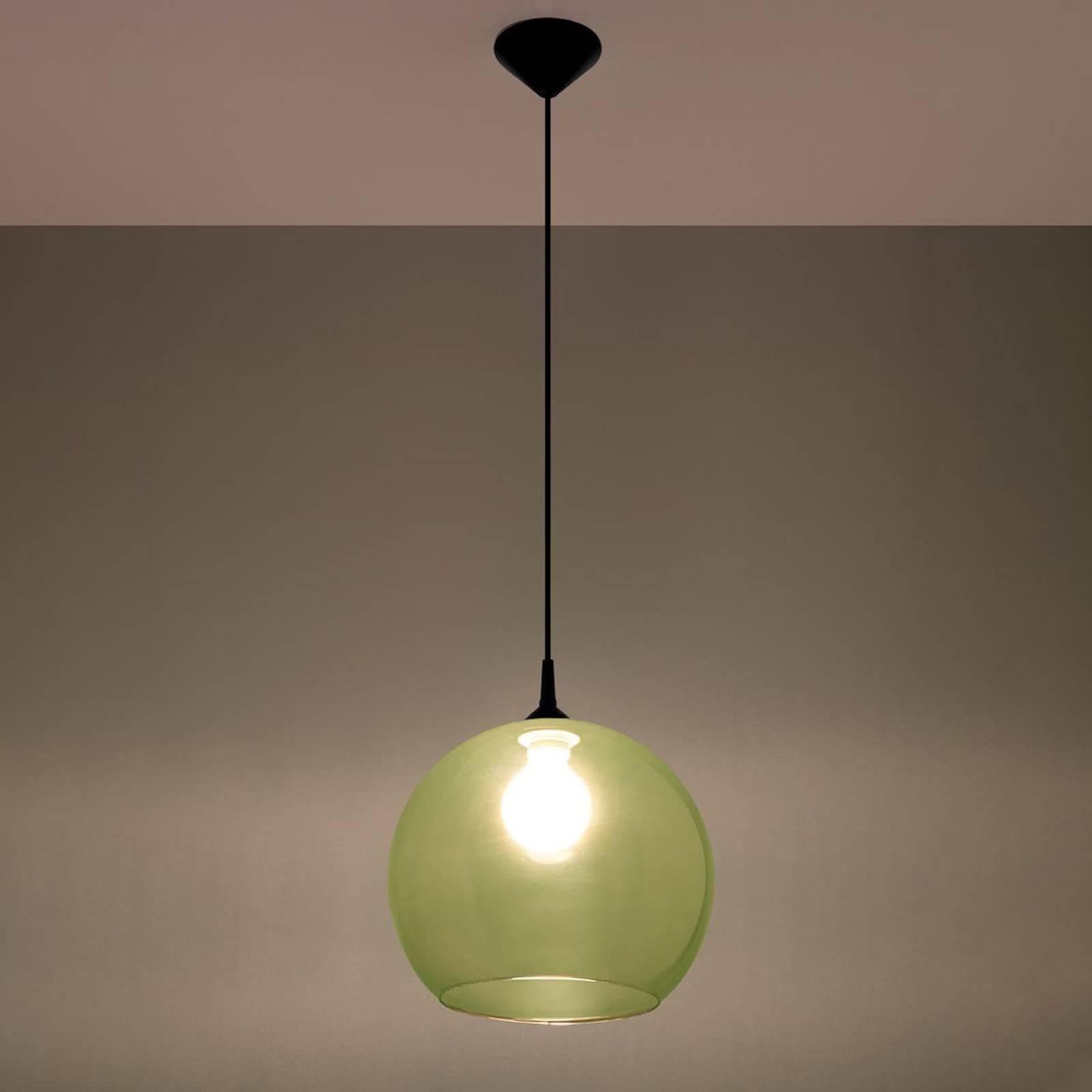Lampa wisząca Colour szklany klosz zielony
