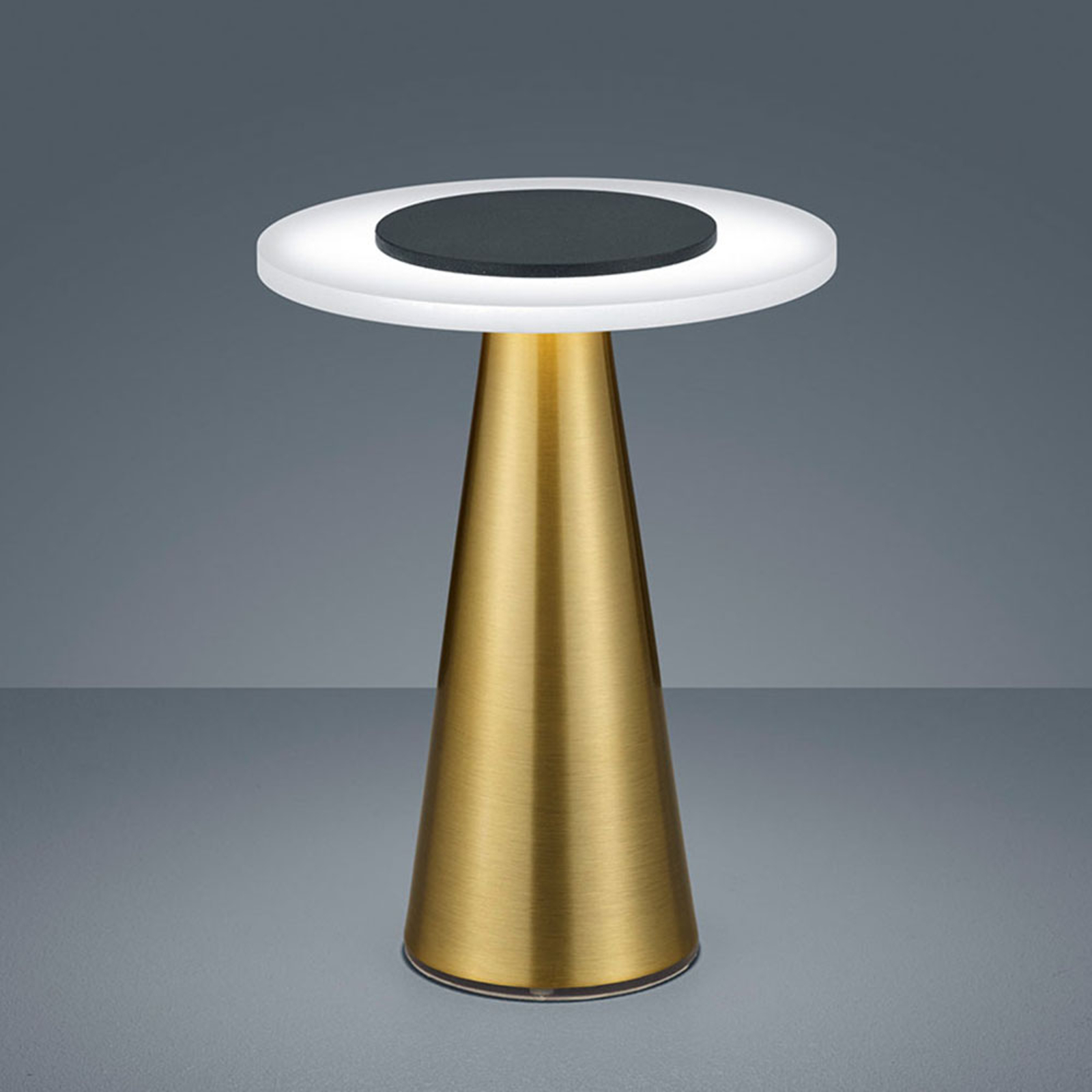 Helestra Bax da tavolo con touchdimmer, ottone