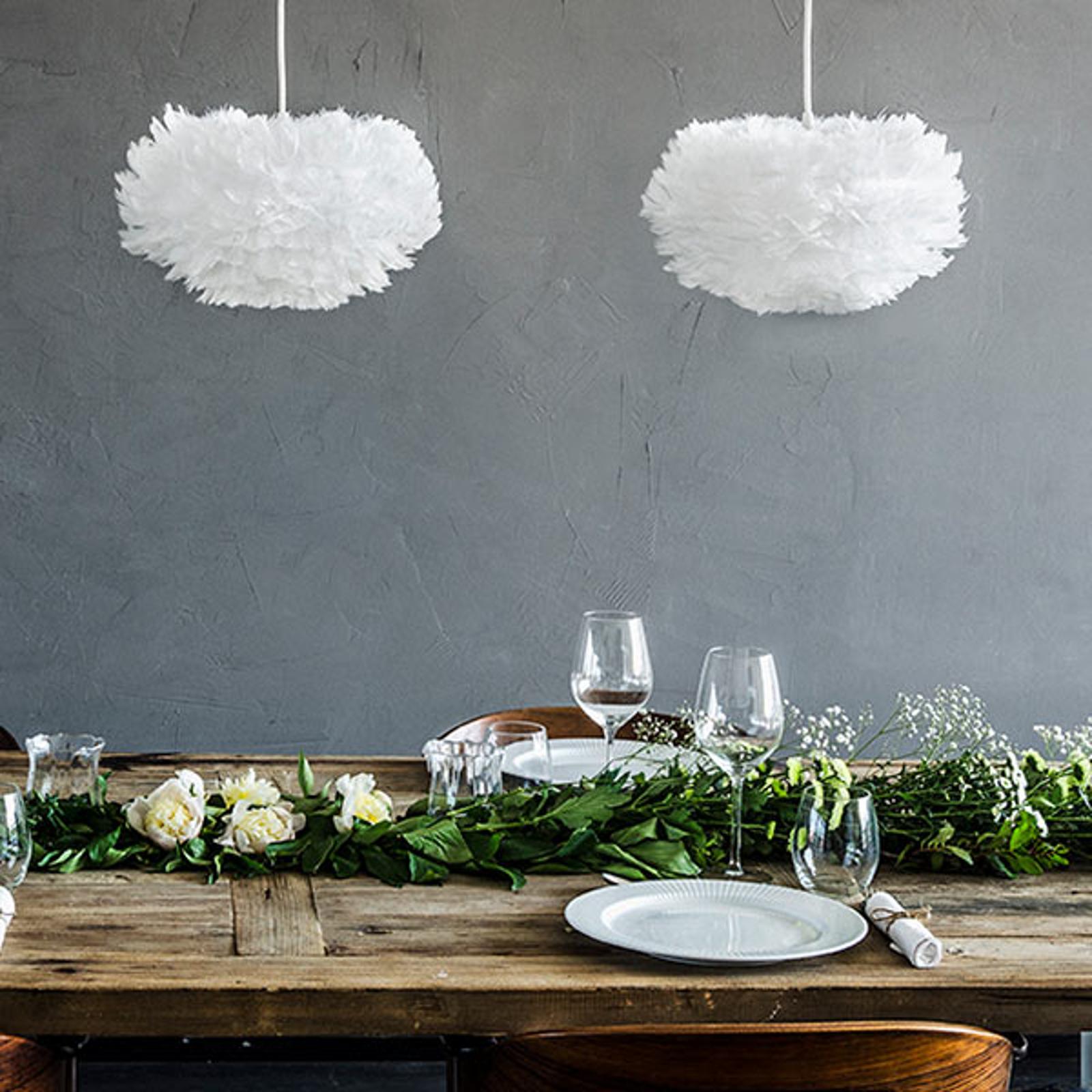 Designerska lampa wisząca Eos mini, biała