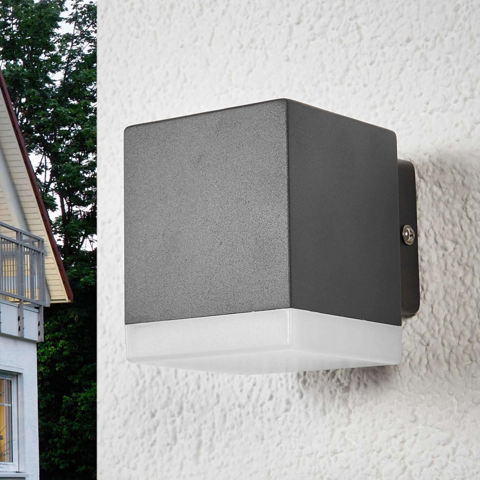 Applique d'extérieur Hedda grise avec LED