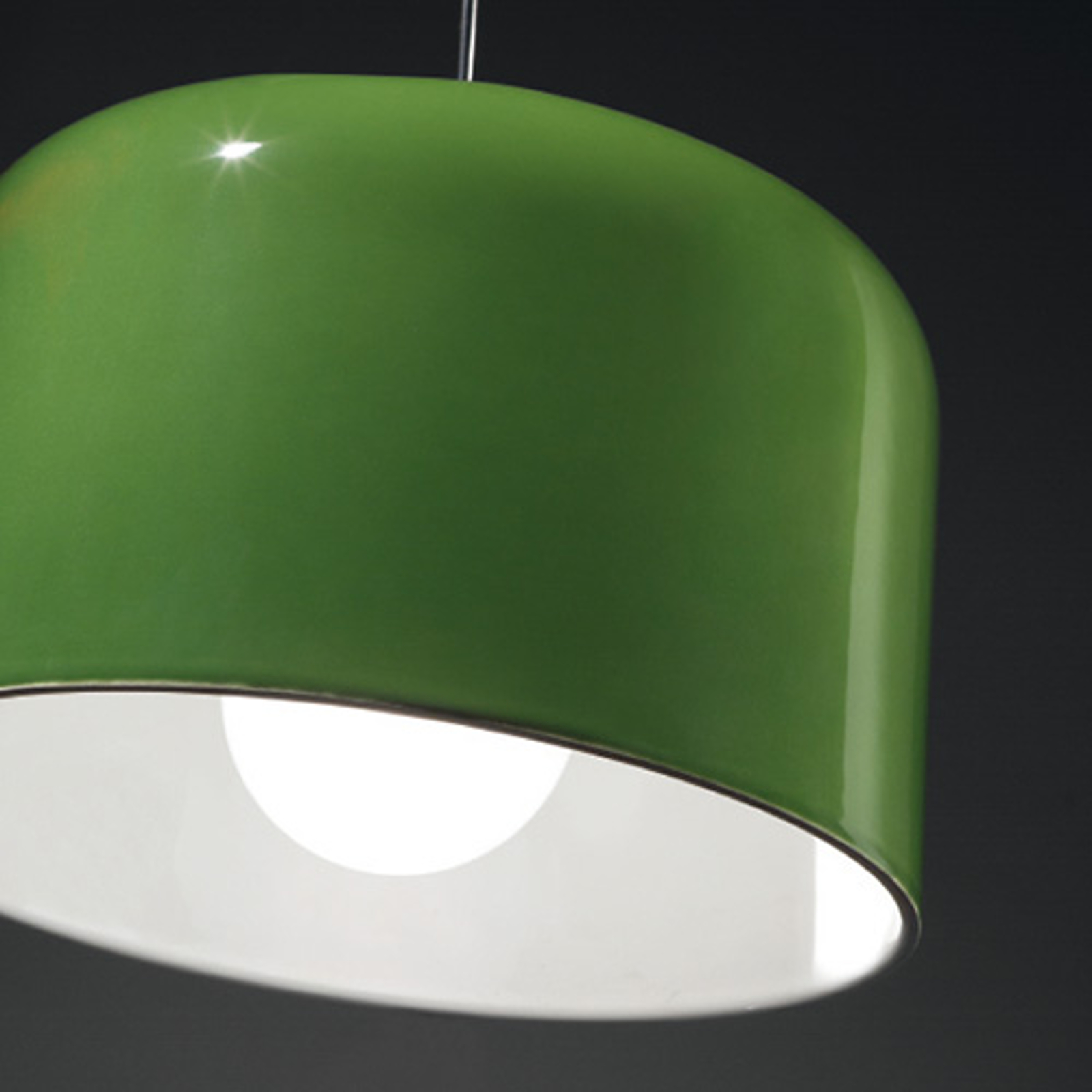 Grün glänzende Keramik-Hängeleuchte Add
