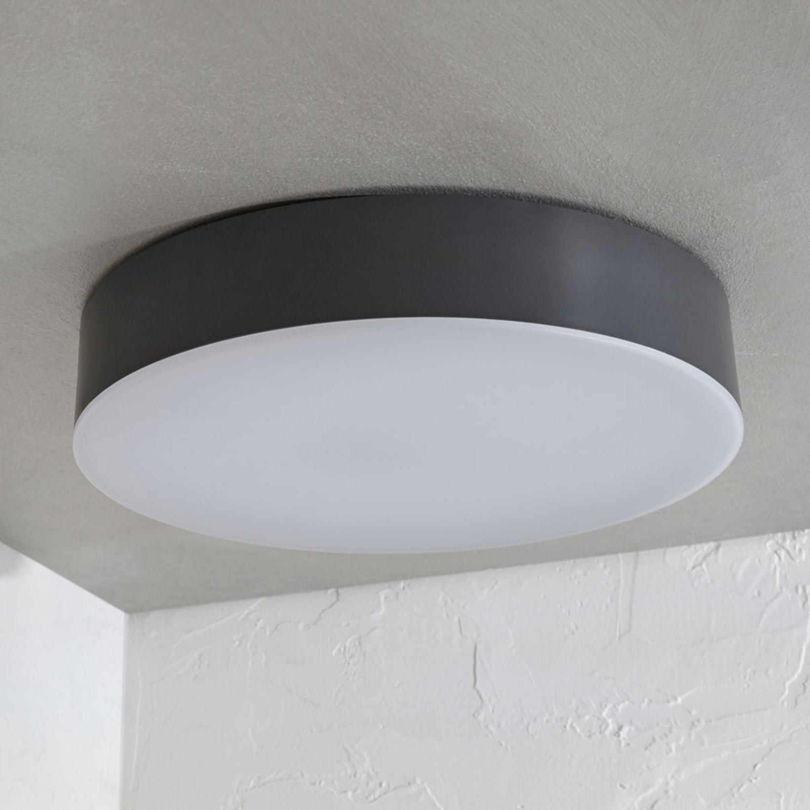 LED venkovní stropní svítidlo Lahja, tmavě šedé