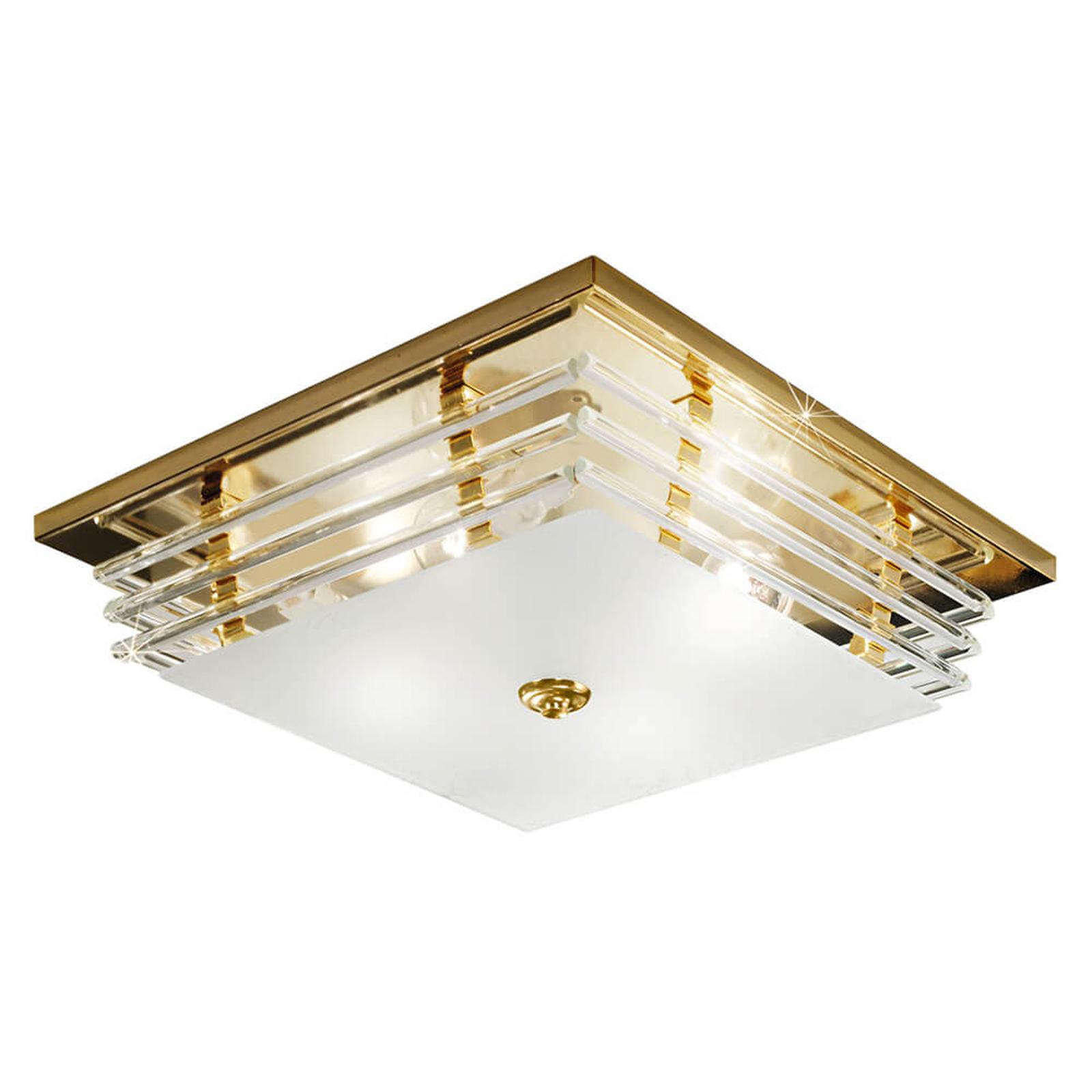 Pozłacana lampa sufitowa Ontario złota