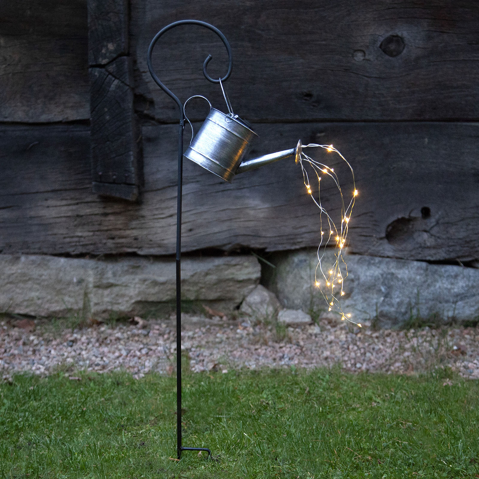 LED-solcellelampe Dew Drop Water Can