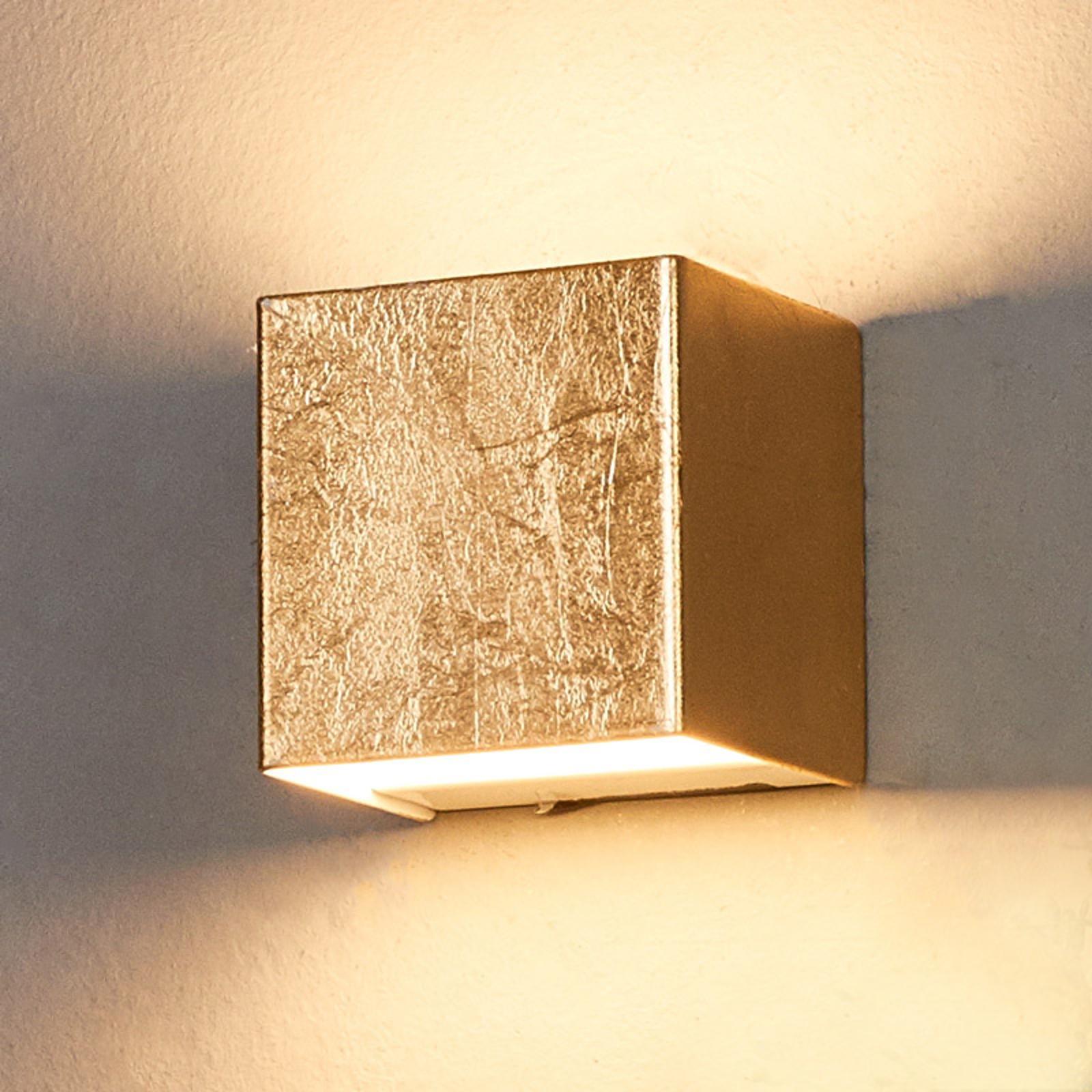 LED nástěnné svítidlo Quentin, zlaté, šířka 9 cm