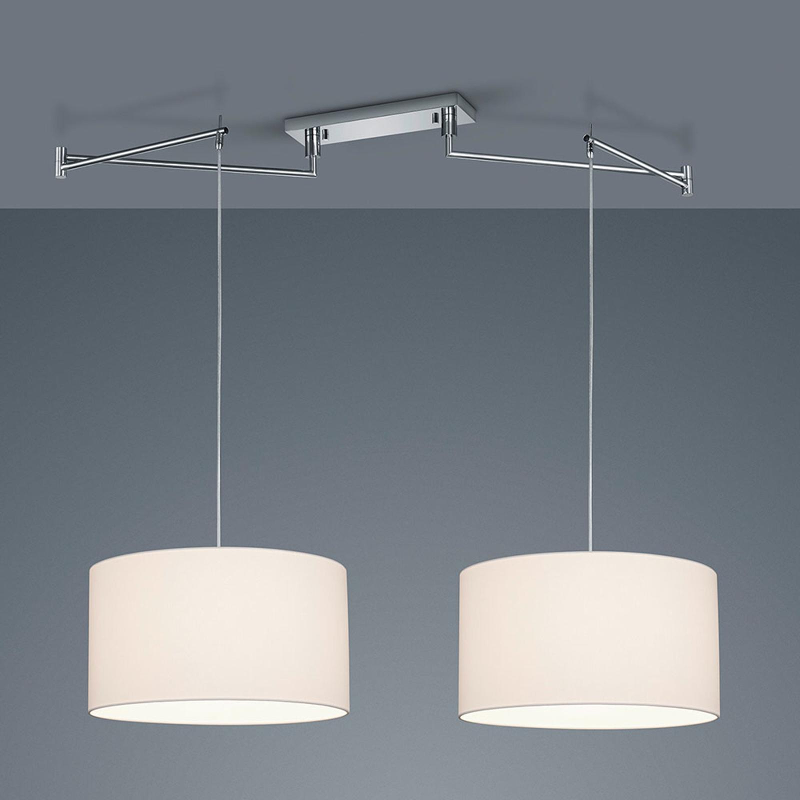 Helestra Certo lampa wisząca cylinder 2-pkt. biały